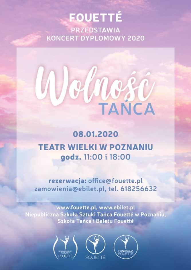 """Spektakl """"Wolność Tańca"""" – Koncert Dyplomowy 2020 w Teatrze Wielkim w Poznaniu"""